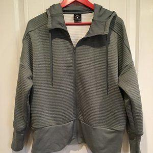 Women's Dri Fit Nike Ribbed Hoodie Jacket Large